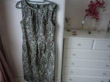 Beige Black fully lined dress size 10