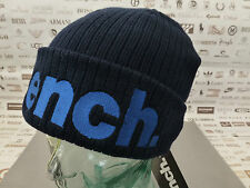 BENCH Ribbed Beanie BECKTEK Cap Embroidery Cotton Navy 2in1 Turn-up Hat BNWT