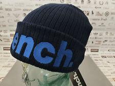 BENCH Ribbed Beanie Men's BECKTEK Cap Embroidery Cott Navy 2in1 Turn-up Hat BNWT
