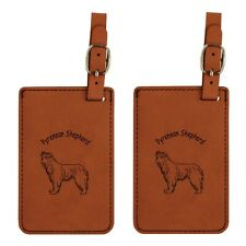 L3795 Pyrenean Shepherd Luggage Tags 2Pk Free Shipping
