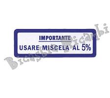 1588 - ADESIVO MISCELA 5% BLU PER VESPA 125 V30>33T VM1T VM2T VNA1T VNA2T