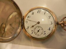 Junghans Savonette  Taschenuhr pocket watch vergoldet