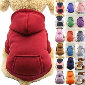 Small Pet Dogs Clothes T Shirt Coat Jacket Hoodies Warmer Sweater Apparel Jumper