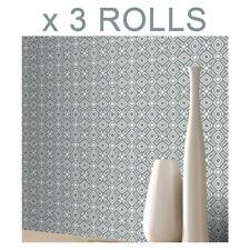 Grey 3D Geometric Wallpaper Luxury Retro Diamonds Modern Rasch Bulk x 3 Rolls