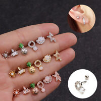 Surgical Steel Ear Piercing Stud Earrings Cartilage Helix Tragus Gift Fashion