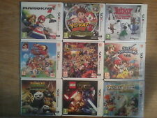 Lot NINTENDO 3DS (SMASH BROS / ONE PIECE R / DRAGON BALL Z / YO-KAI WATCH 2) EUR