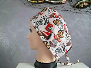 surgical scrub cap hat men chef  painter cap football ohio state buckeyes