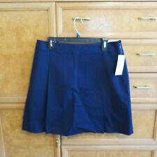 Women's Lauren Ralph Lauren blue pleated skirt size 10 brand new NWT $89.50