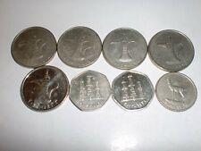 - UNITED ARAB EMIRATES(UAE) - 8  OLD & NEW COINS - BIG & HEAVY -1989-2013 # 7AR