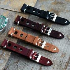 Handmade Vintage Leather Men Watch Strap Band Rally Racing Luxury 18 20 22 24mm