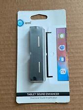 Onn Brand Black Directional Sound Enhancer For iPad, Galaxy & Nexus Tablets NEW