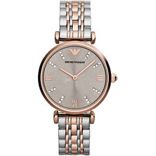 NEW EMPORIO ARMANI LADIES GENUINE GIANNI GOLD T-BAR WATCH - AR1840 - RRP £329