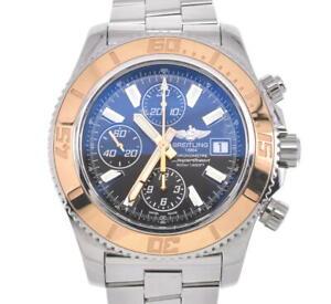 BREITLING SuperOcean C13341 Chronograph K18YG Bezel Automatic Men'sWatch #101173