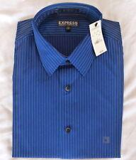 New! Express Men's Modern Stretch Dress Shirt 16-16.5 L Royal Pinstripe $60