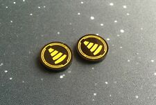 X-Wing 2.0 compatible, acrylic tractor beam tokens - black series