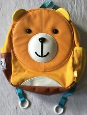 Puku Pals Easy use orange yellow bear Kid friendly Backpack leather strong
