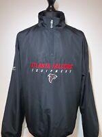 NFL Equipment Reebok Atlanta Falcons Retro Black Jacket Windbreaker Large L VGC