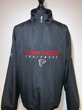 NFL Equipment Reebok Atlanta Falcons Retro Black Jacket Windbreaker Large VGC