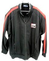 Polo Ralph Lauren Sport Mens Black Red White Full Zip Logo Jacket Size 3XLT