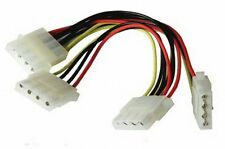 "3 modo Molex Divisor de cable de alimentación de PC PSU cable adaptador de 5,25 "" 4 pines LP4"