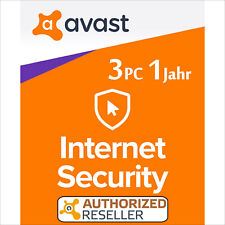 Avast Internet Security 3 PC 1 year 2020 Full Version/Upgrade Antivirus Premium