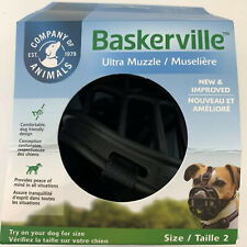 "Baskerville Rubber Small Dog Ultra Muzzle Size 2 Black 2.5"" Long 10.5"" Wide New"