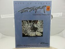 FineArts Graphics Gift Of Nature Tom Taylor WHITE TIGER Cross Stitch Pattern NEW