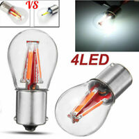 4 LED Filament 1157 BAY15D 12V Light Bulb Tail Stop Brake Lamp For Car SUV Auto
