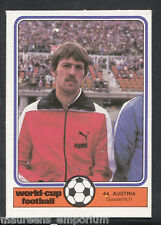 Monty Gum World Cup 1982 Football Card No 44 - Gasserlich - Austria