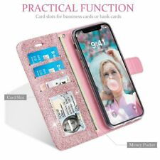 Flip Magnetic Glitter Bling Leather Wallet Case Cover For iPhone XS Max XR X 8 7