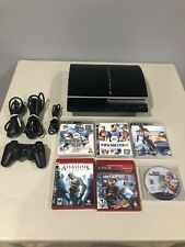 Sony PlayStation 3 PS3 80GB CECHK01 Console Bundle w/ 6 Games, 1 Controller