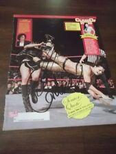 WWE DIVA SIGNED CANDICE MICHELLE PHOTO MAGAZINE PAGE CELEBRITY SLEUTH + SNITSKY