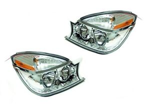 For 2004-2005 Buick Rendezvous Head Lights Lamps Driver & Passenger Side LH+RH
