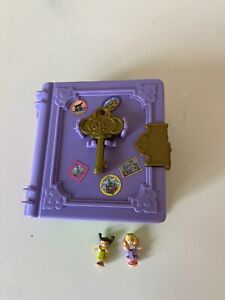 Polly Pocket 1995 Toy Land 2 Figures And Key Storybook Book Vintage Bluebird