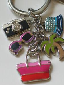 BNIB Coach Hampton Weekend Multi Mix Key ring / Keychain