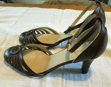 Laura Ashley brown leather ladies Shoes Size 6/39