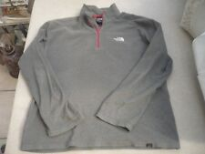 """The North Face quality grey fleece with red detail M 23"""" pit to pit"""