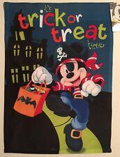 Disney Mickey Mouse Halloween Trick Treat Pirate Mini Window Garden Yard Flag Nw