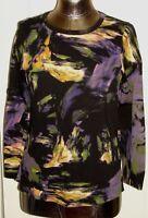 Simply Vera Vera Wang Women's Size M (36) Black/Purple/Gold Knit Top 227-12725