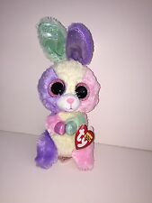 """TY BLOOM EASTER BUNNY 6"""" BEANIE BOOS- NEW W/TAGS** VERY BRIGHT & COLORFUL"""