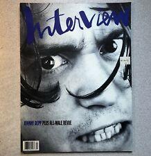 April 1990 Interview Magazine • Johnny Depp