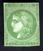 1870-71 FRANCE GREEN  NAPOLEON SC#41a A8 4c NG