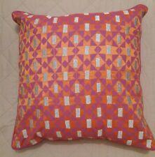 Habitat Gustar Purple & Pink Metallic Brocade Screenprinted Cushion 45 X 45