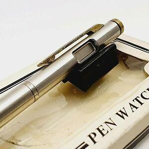 Quartz LCD digital watch Ballpoint pen vintage 1980's vintage