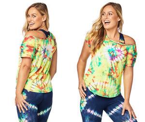 Zumba - Tie Dye For Zumba Tee Shirt - Caution Yellow - Sm, Med, Lg, XL, XXL