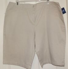 "New Womens size 24W Beige Pedal Pusher Pants Basic Editions 14"" Inseam"
