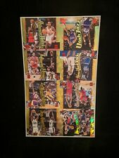 1996-97 TOPPS STADIUM CLUB FUSION DIE-CUT TEAM BASKETBALL CARD UNCUT SHEET