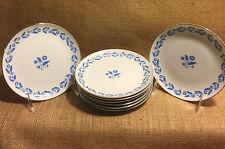Symphony in Blue Fine China of Japan Dessert or Bread Plate Cornflower SET of 4