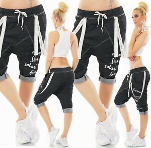 Italy Capri Harem Pants Jeans Look Jogging Trousers Baggy Boyfriend Logo 36-40#