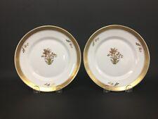 "Set of 2 Royal Copenhagen Golden Basket 7 1/2"" Salad Plates"